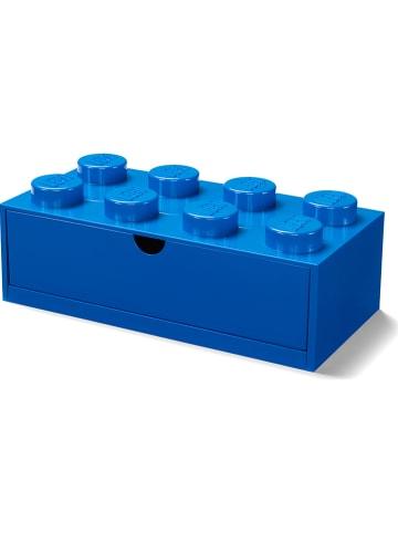 """LEGO Pojemnik """"Brick 8"""" w kolorze granatowym z szufladami - 30 x 16 x 12 cm"""
