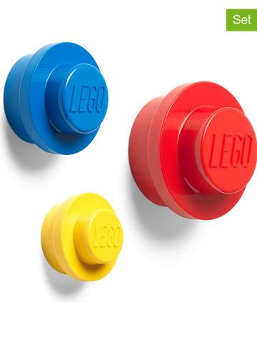 """LEGO 3er-Set: Wandhaken """"Iconic"""" in Gelb/ Blau/ Rot"""
