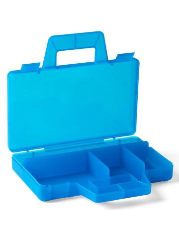 """LEGO Walizka """"Case to go"""" w kolorze błękitnym z przegrodami - 19 x 3,5 x 16 cm"""