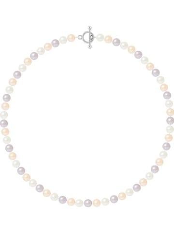 Pearline Naszyjnik perłowy w kolorze fioletowo-jasnoróżowo-białym - dł. 42 cm