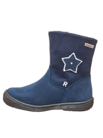 Richter Shoes Leren winterlaarzen blauw/zilverkleurig