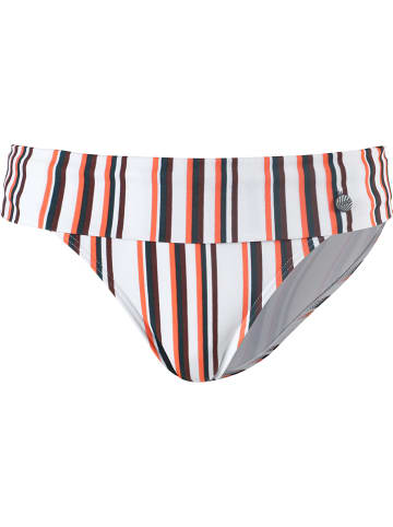 Beachlife Bikini-Hose in Weiß/ Orange
