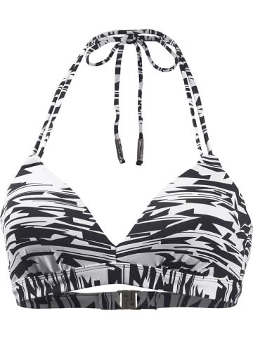 Beachlife Biustonosz bikini w kolorze biało-czarnym