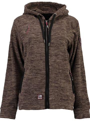 """Geographical Norway Sweatvest """"Twelve"""" taupe"""