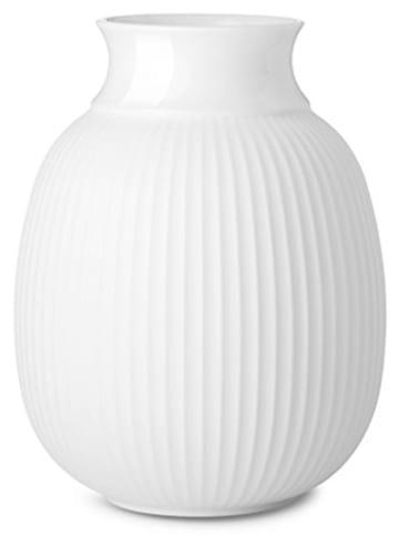 """LYNGBY Vase """"Curve"""" in Weiß - (H)13 cm"""