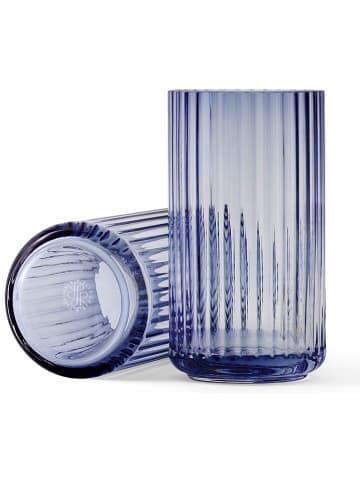 LYNGBY Wazon w kolorze niebieskim - wys. 15 cm
