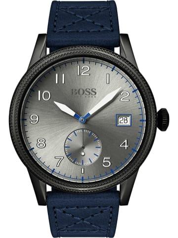 "Hugo Boss Quarzuhr ""Legacy"" in Blau/ Schwarz/ Silber"