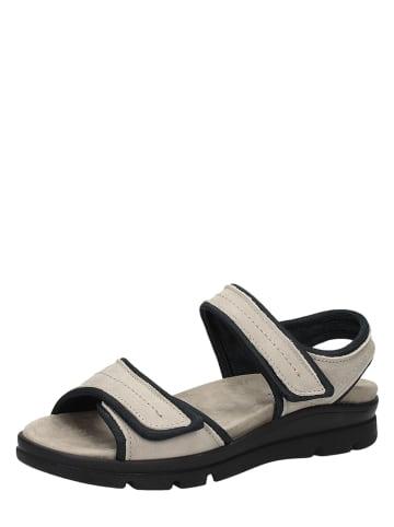 Bama Leren sandalen beige