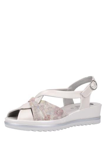 Bama Leren sandalen wit/lichtroze