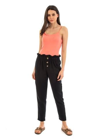 Fille de Coton Spodnie w kolorze czarnym