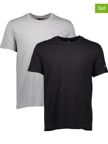 Champion 2er-Set: Shirts in Grau/ Schwarz