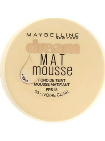 """Maybelline Podkład """"Dream Matte Mousse - 03 Ivoire Clair"""" - 18 ml"""
