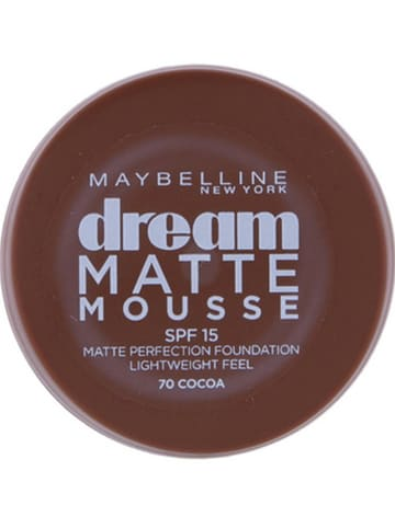"""Maybelline Foundation """"Dream Matte Mousse - 70 Cacao"""", 18 ml"""