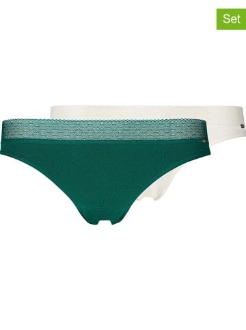 Skiny 2-delige set: slips donkergroen/wit