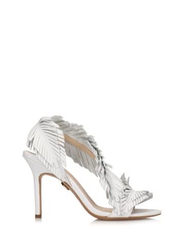 Baldowski Skórzane sandały w kolorze białym