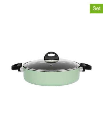 BergHOFF 2-delige set: pan met deksel groen - Ø 26 cm