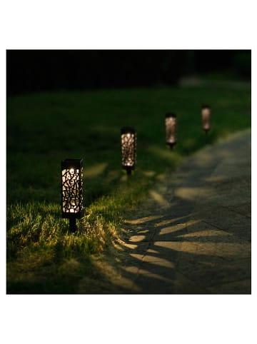 """Lumisky Solarna lampa ogrodowa LED """"Organic"""" w kolorze czarnym - wys. 28 cm"""