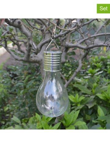 """Lumisky 3er-Set: LED-Solarleuchten """"Star Edisun"""" in Transparent/ Silber - (H)19 cm"""
