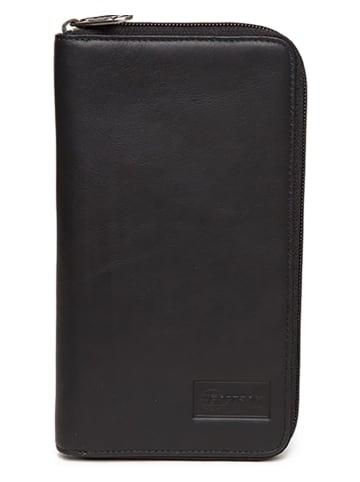 "Eastpak Leren portemonnee ""Tait Single"" zwart - (B)12 x (H)22 x (D)2 cm"