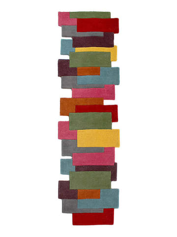 Flair Rugs Woll-Teppich in Bunt
