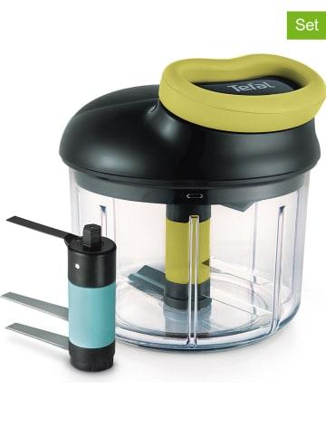 """Tefal 3-delige set: hakmolen """"Ingenio"""" met accessoires zwart/groen - 900 ml"""