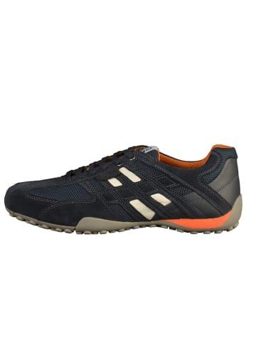 Geox Leren sneakers donkerblauw