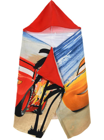 """Disney Cars Ręcznik """"Cars"""" w kolorze czerwonym z kapturem - 100 x 50 cm"""