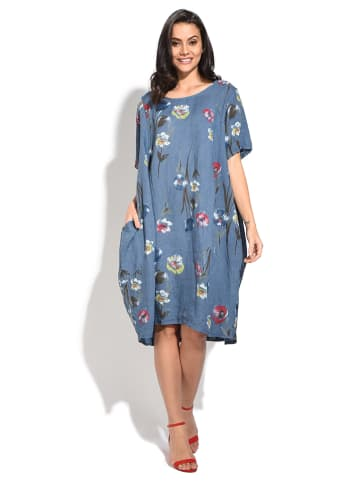 William de Faye Linnen jurk blauw