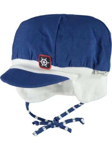 Sterntaler Czapka w kolorze niebiesko-białym