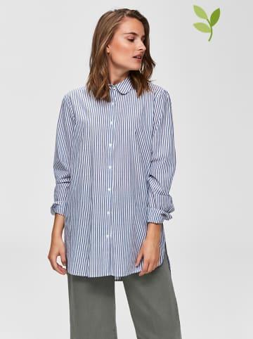 SELECTED FEMME Bluzka w kolorze niebiesko-białym