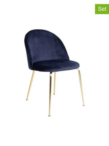 House Nordic 2er-Set: Stühle in Dunkelblau - (B)52 x (H)78 x (T)51 cm