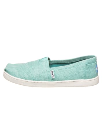 """TOMS Instappers """"Classic - Coated Linen"""" turquoise"""