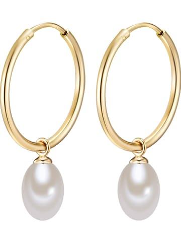 Yamato Pearls Vergold. Creolen mit Perlen