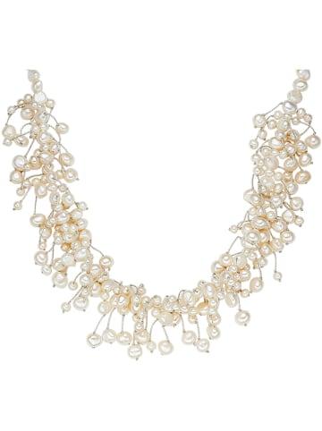 Yamato Pearls Naszyjnik perłowy w kolorze białym - dł. 42 cm