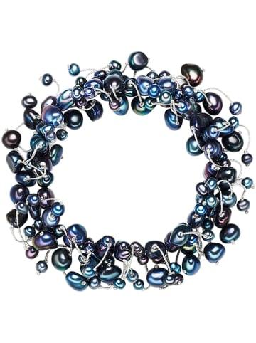 Yamato Pearls Bransoletka perłowa w kolorze niebieskim