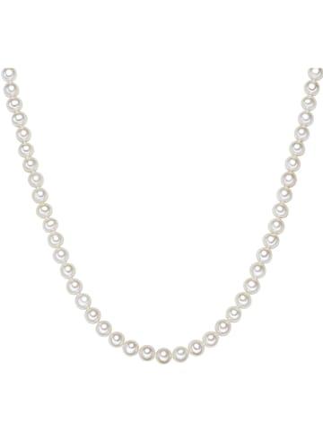 Yamato Pearls Perlen-Halskette in Weiß - (L)45 cm