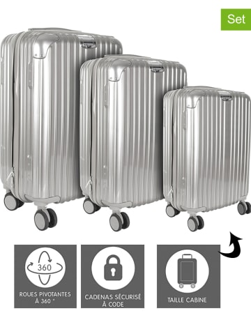 Garden Spirit 3er-Set: Hardcase-Trolleys in Grau