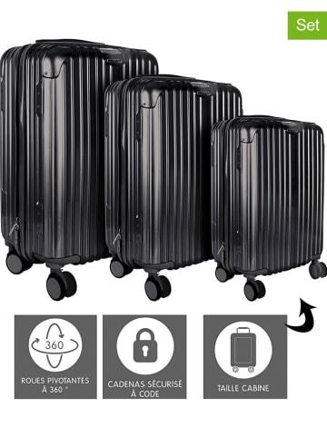 Garden Spirit 3-delige harcase-trolleyset zwart