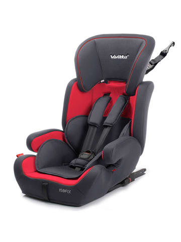 "Babyauto Kindersitz ""VIZ Fix 123"" in Rot/ Grau - Gruppe 1/2/3"
