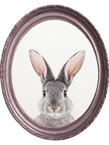 "Little nice things Dekoracja ścienna ""Purple Rabbit"" - 40 x 50 cm"
