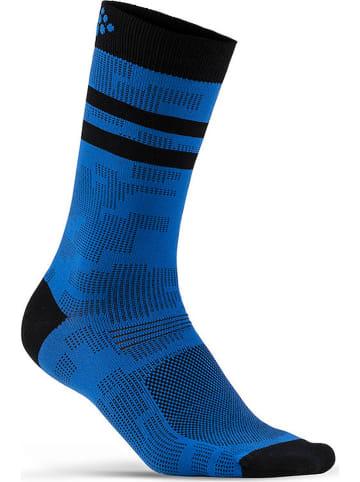 "Craft Functionele sokken ""Pattern"" blauw"