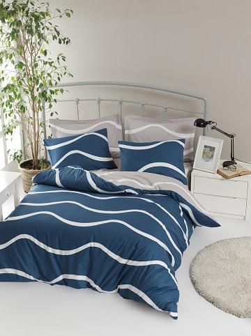 """Colourful Cotton Renforcé beddengoedset """"Novia"""" blauw"""
