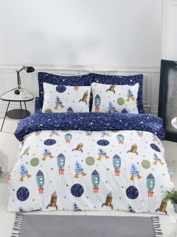 """Colourful Cotton Komplet pościeli renforcé """"Spacex"""" w kolorze niebieskim ze wzorem"""