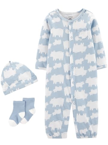 Carter's 3-delige outfit blauw/wit