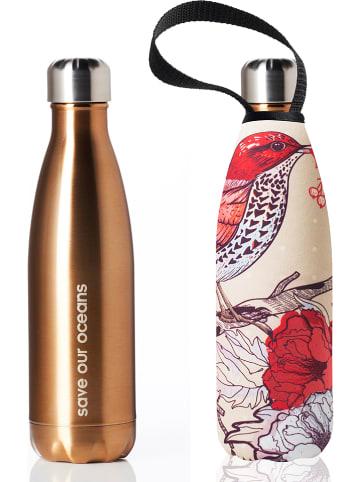 """Bbbyo* Butelka """"Bird"""" w kolorze złoto-beżowo-czerwonym - 500 ml"""