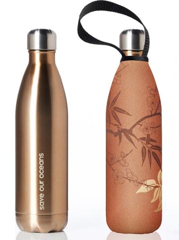 "Bbbyo* Edelstahlflasche ""Bamboo"" in Braun/ Gold - 750 ml"