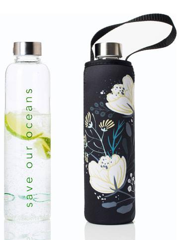 """Bbbyo* Trinkflasche """"Orient"""" in Transparent/ Schwarz - 750 ml"""
