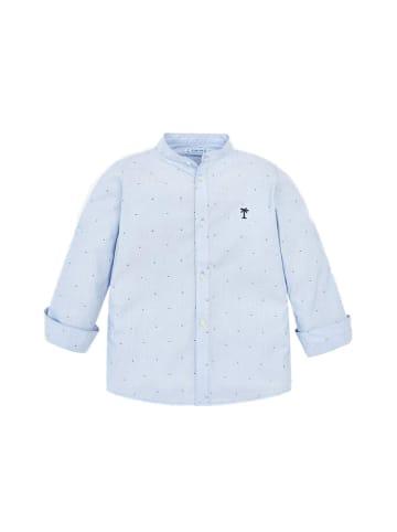Mayoral Koszula w kolorze jasnoniebieskim ze wzorem
