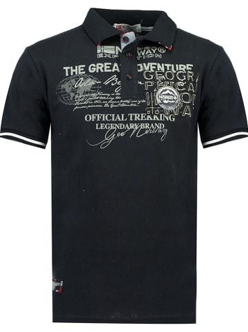 """Geographical Norway Poloshirt """"Koresun"""" donkerblauw"""