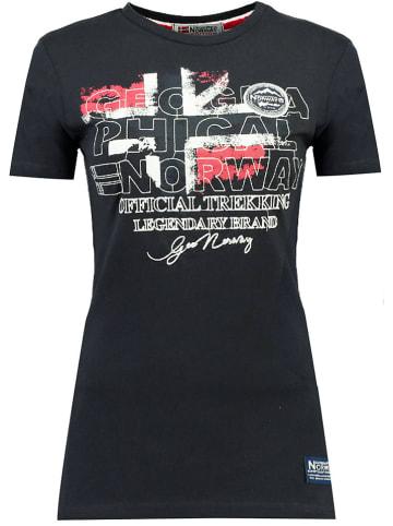 """Geographical Norway Koszulka """"Jarry"""" w kolorze granatowym"""